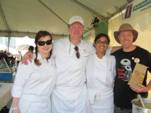 With Chef Martin Kouprie and members of the Pangaea team