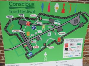 Conscious Food Festival 2011 map of venue