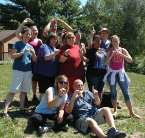 Phillip's class Level 1B,C,D at Ontario Camp for the Deaf 2011