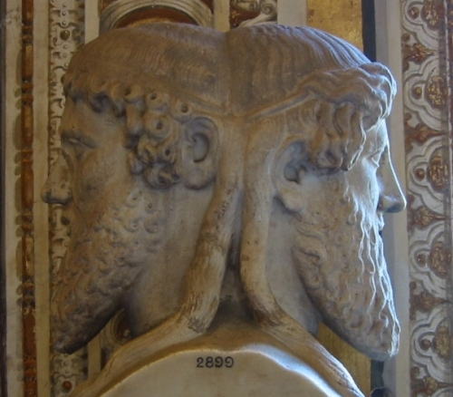 Photo: Bust of the god Janus, Vatican museum, Vatican City. photo by Fubar Obfusco.